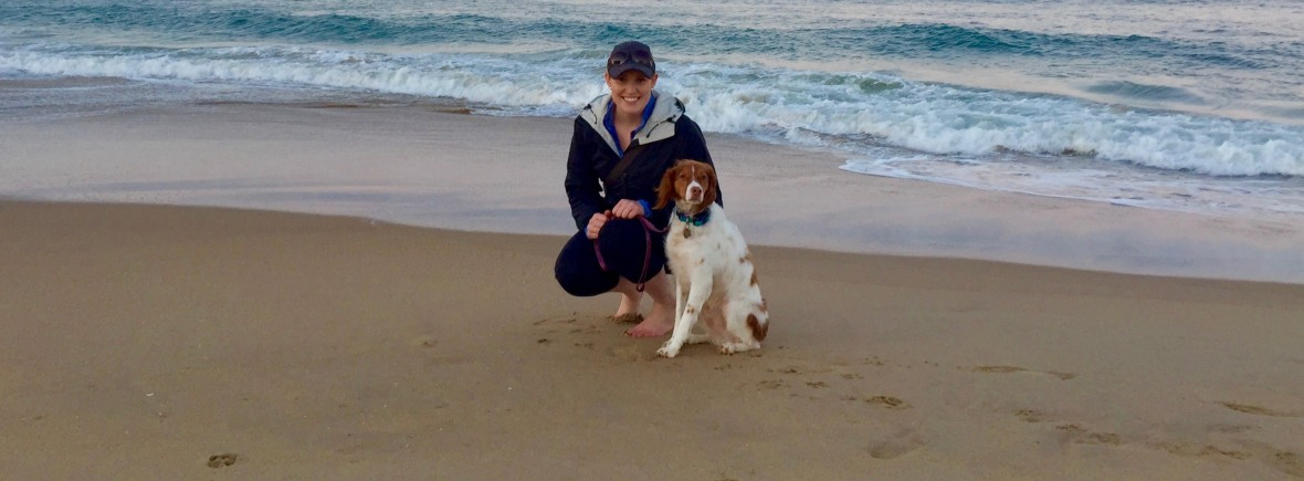 Founder and Head Trainer, Eliza, with her personal dog, Lally.